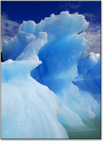 96eafd475a Iceberg calved from Alaska s Le Conte glacier. The more icy and clear an  iceberg